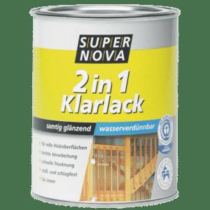 Acryl 2 in 1 Klarlack seidenglänzend Super Nova Farblos 0.75l