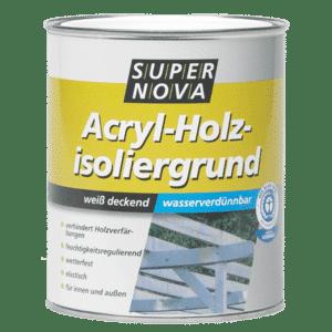 Acryl Holzisoliergrundierung weiss Super Nova 750ml